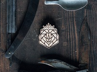 King Of Siberia / Wooden Badge