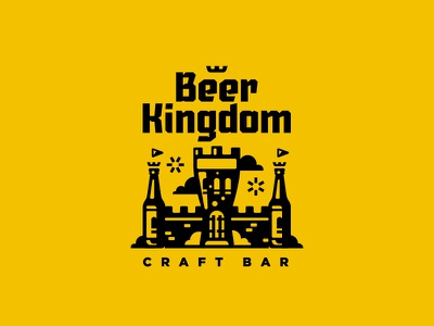 Beer Kingdom / Craft bar kingdom bar craft beer mark logo stolz
