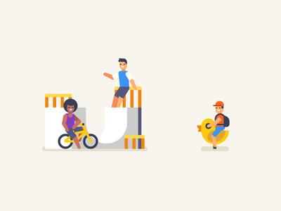 Extreme and Kids stolz illustration icon vkfest bmx extreme kids vkontakte
