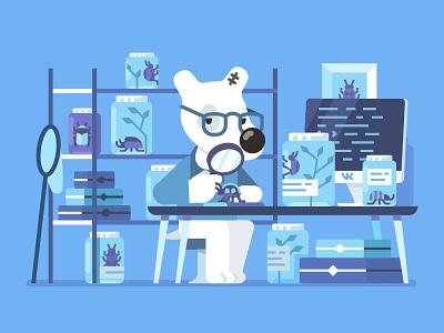 VK Testers / Tester's Day dog testers day tester spotty bug vkontakte vk illustration stolz