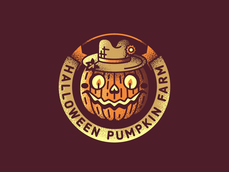 Halloween Pumpkin Farm farmer halloween farm pumpkin mark logo stolz