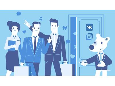 VK & PSB character vkontakte vk spotty bank illustration stolz