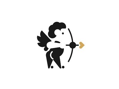 Cupid minimal valentine love cupid logo stolz