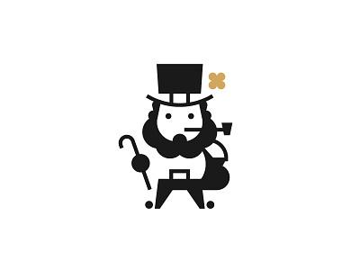 St. Patrick's Day gold leprechaun patricks day st.patrick icon minimal logo stolz