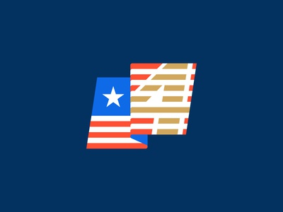 4th of July independence day 4th america holiday minimal flag mark logo stolz