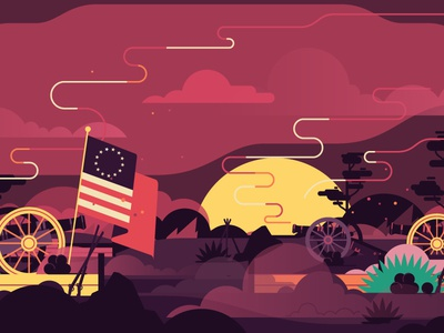 4th of July / Pornhub independence day pornhub flag simple flat july 4th america war illustration stolz