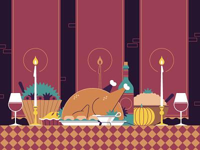 Thanksgiving flat thanksgiving turkey pornhub illustration stolz