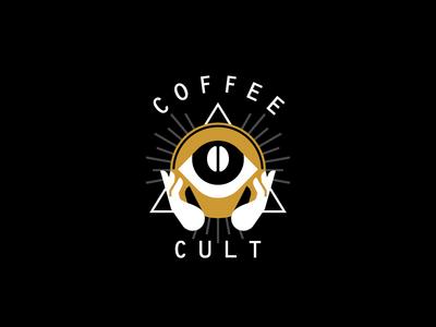 Coffee Cult hand eye cult coffee logo mark icon stolz