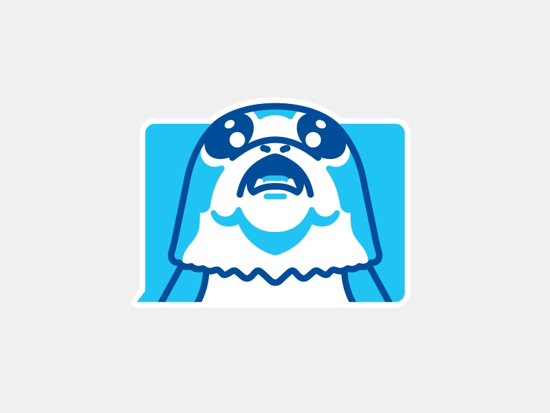 Stickerpack 2 0 porg dribbble