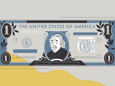 Albert Einstein motion design animation trendy butler albert einstein man illustration stolz dollar