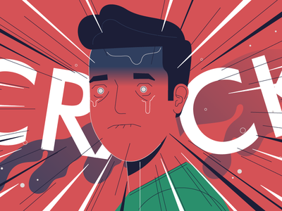 Crack crack pain character motion explainer animation map doctors italy illustration stolz