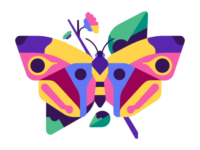 Butterfly butterfly vector simple flat illustration stolz