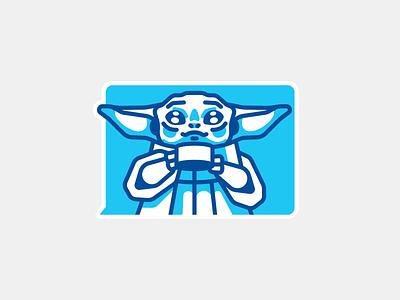 Baby Yoda star wars stolzsticker sticker telegram mandalorian baby yoda yoda baby illustraion stolz