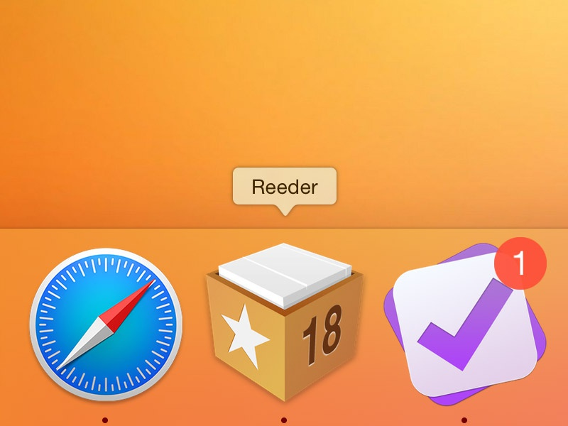 Reeder Yosemite Icon app icon