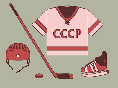 USSR hockey equipment