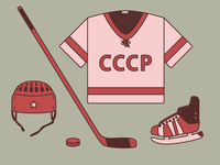 USSR hockey equipment