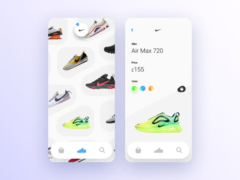 Sneakers Shop App app shoes sneakers ux ui mobile nike