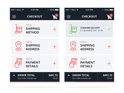 Mobile checkout checkout e-commerce