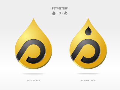 Drops oilcompany oil logodesign emblem ui vector illustration logo
