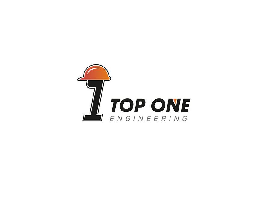 Top One Engineering dribbble logo branding