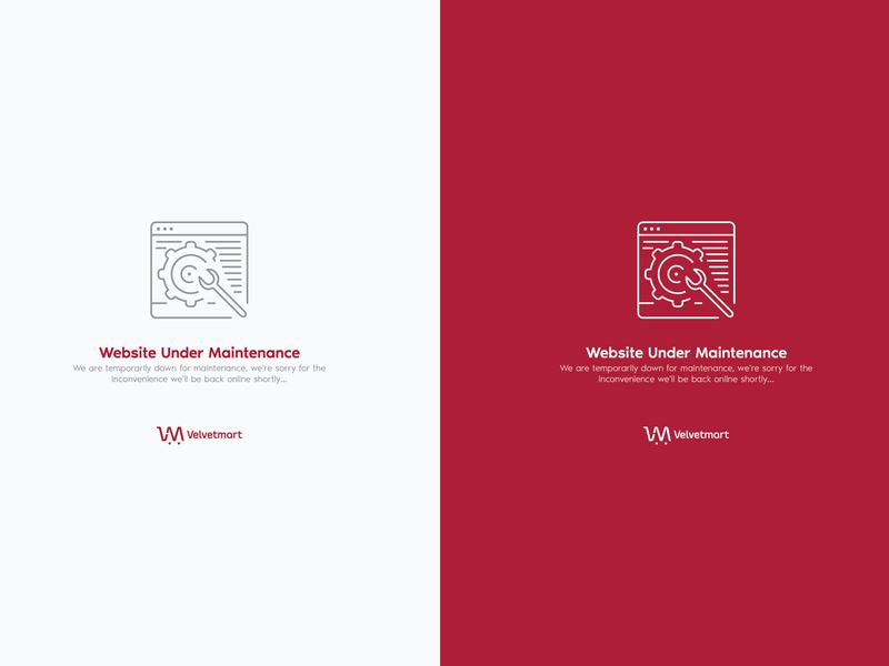 Velvetmart Under Maintenance Page icon web app ux ui dribbble