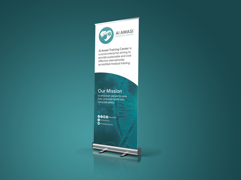 Alawasi Roll Up Stand advertise advertising standup rollup print