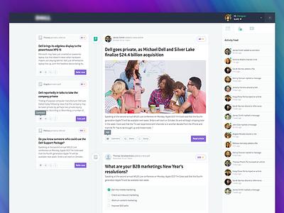 Web App - Newsfeed Overview community platform glober application ux art direction ui user interface design web design