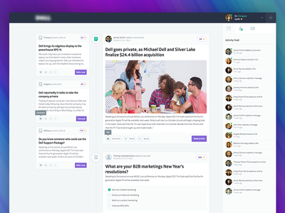 Web App - Newsfeed Overview