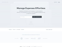 Xpenditure wireframe homepage