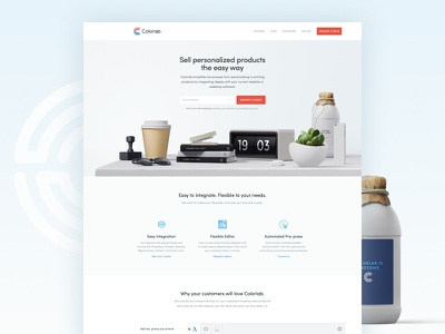 SaaS Marketing Site - Colorlab flat features one pager clean art direction web design user interface design ui design landing page homepage saas