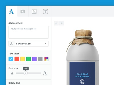 Widget - Customize your Products