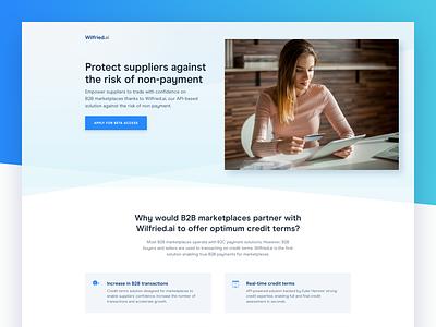 FinTech – Landing Page hero marketing site api web design ui ux page landing fintech saas
