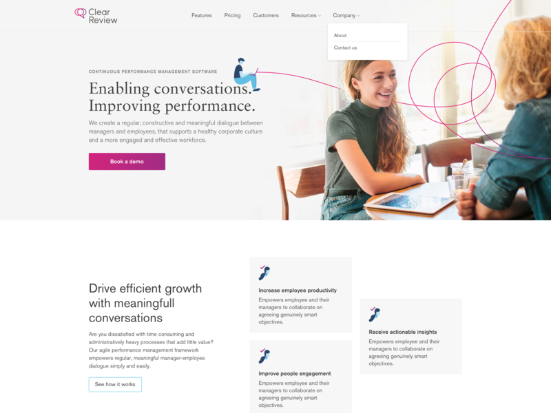 SaaS Marketing Site – Homepage minimal marketing site ui design homepage art direction user interface design web design saas