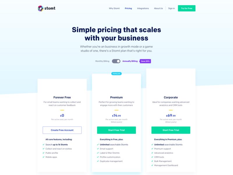 SaaS Pricing Page
