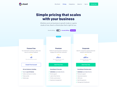SaaS Pricing Page saas landing page pricing table pricing plans pricing page art direction user interface design ui design saas