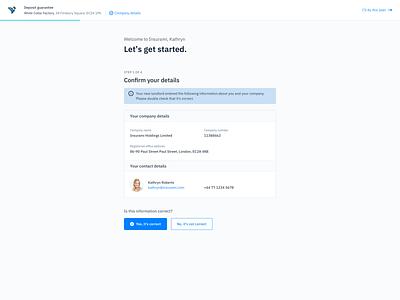 User Onboarding Flow - Insurance Tech insurance design web app user interface design ux product design payment onboarding web application finance insurtech