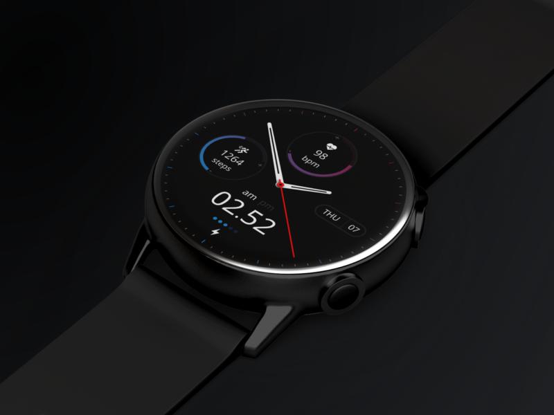 Ocean Violet - Watch Face Design hybrid watch face samasung watch face galaxy watch designer ux uxdesign ui ui exploration design
