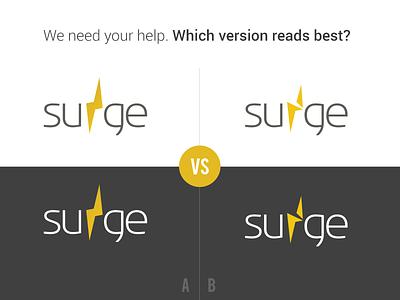 Logo Legibility Survey logo lightning feedback shock readability legibility survey