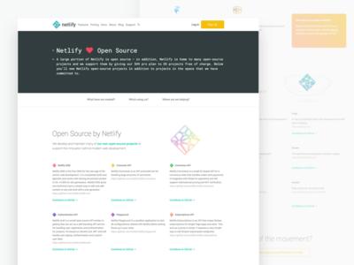 Netlify ♥ Open Source simple grid code clean plan pro free developer open source