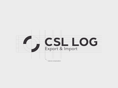 CSL grid logotype visual identity logistics logo symbol logo grid symbol design logodesign logo