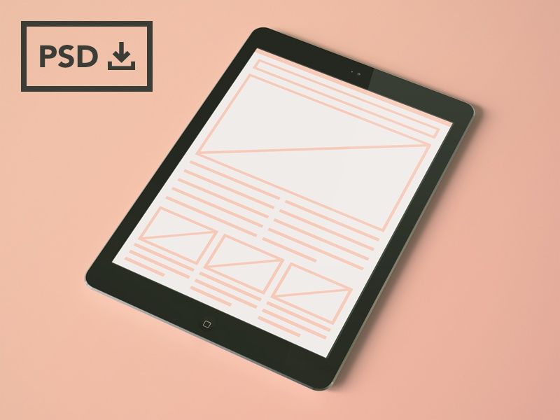 iPad Air Mockup Templates [PSDs] ipad air ipad template psd freebie mockups mockup
