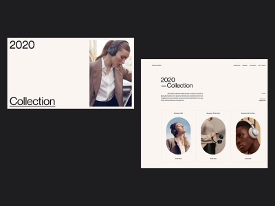 B&O whitespace catalog collection concept figma minimalist ux typography desktop design layout grid clean web ui minimal