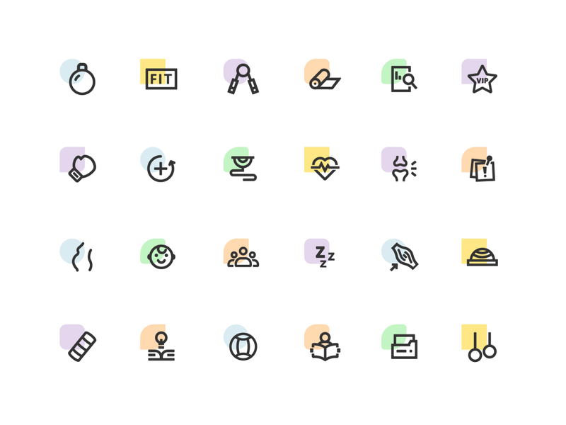 Fitness training course Icon training course healthy fitness icon curiculum ui icons two color icon icon designer app icons web icons
