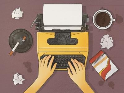 work procreate writer write cute digitalart illustration