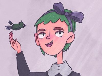 bird procreate bird cartoon digitalart characterdesign illustration