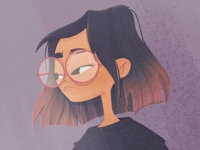 portrait girlcharacter procreate digitalart characterdesign illustration