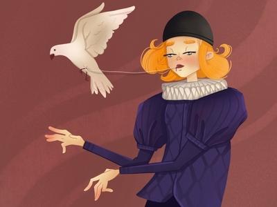 Who procreate pain pigeon procreate art characterillustration digitalart characterdesign illustration