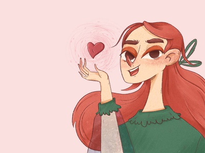 love is in the air valentine day pink digitalart character love cute characterdesign illustration