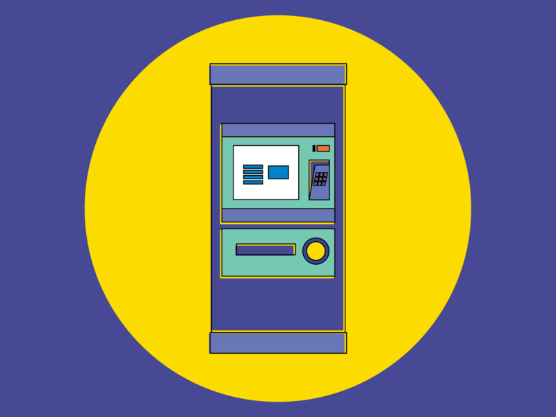 Ticket machine minimal illustrator ticket icon illustration flat
