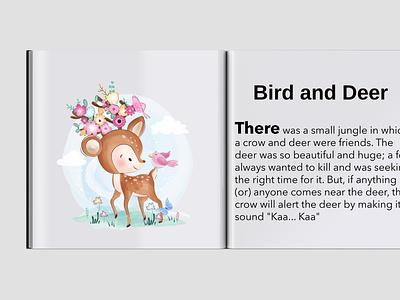 Bird and Deer childrens book childrens illustration storybook illustraion